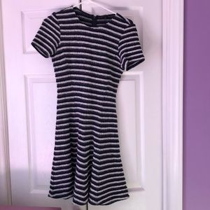 Theory striped navy and white dress